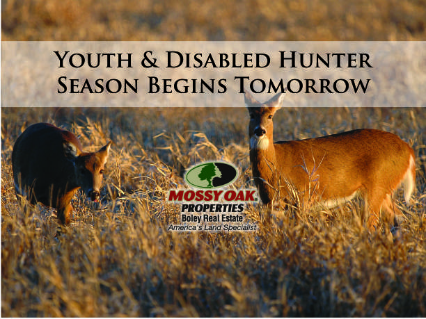 Youth & Disabled Hunter- Deer Season Begins Tomorrow!