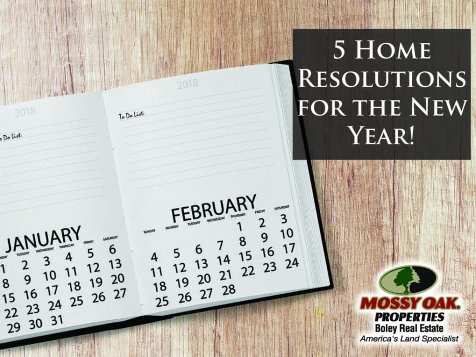 5 Home Resolutions For The New Year!