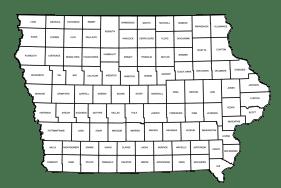 County map of Iowa